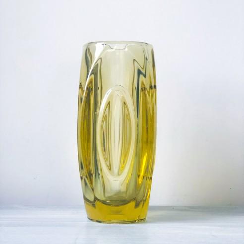 váza z ambrového skla