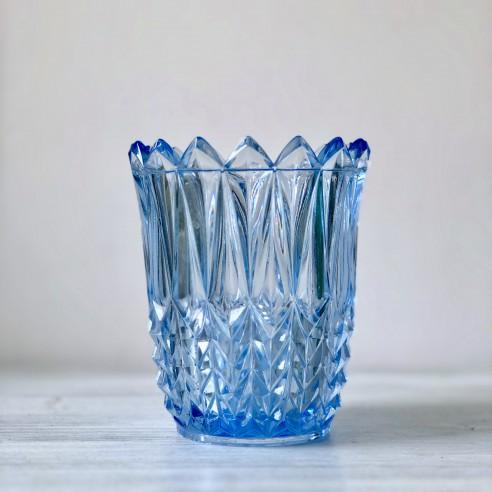 váza z  akvamarinového skla