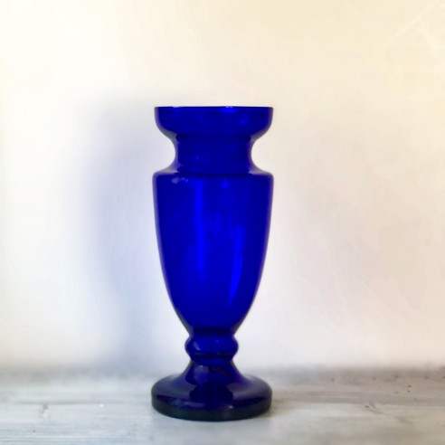 kobaltově modrá váza velká