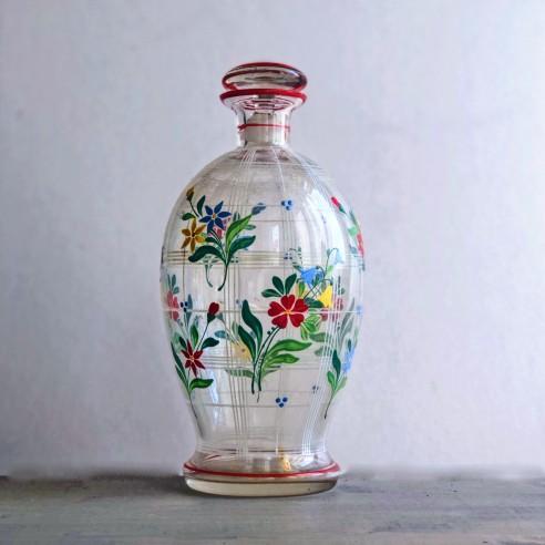 ručně malovaná skleněná karafa