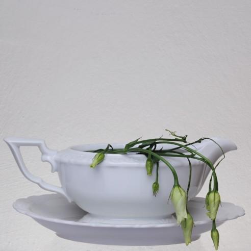 omáčník bílý porcelánový