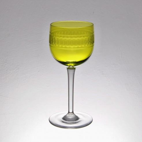 set 4 sklenek  zelenožluté barvy