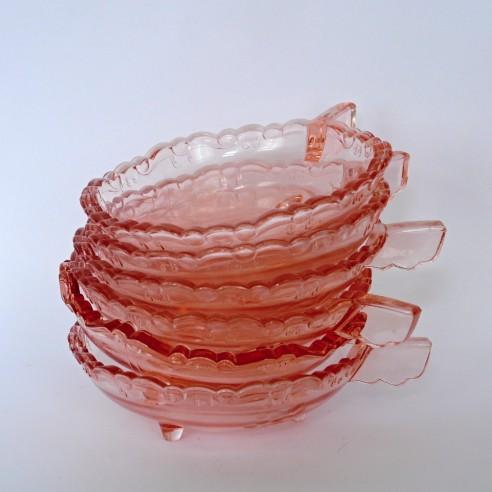 miska skleněná růžová