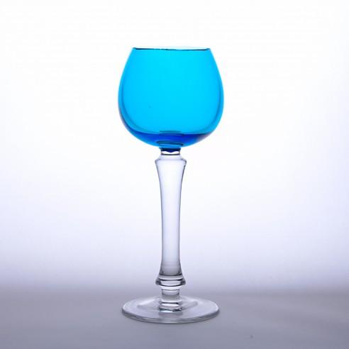 sklenka na víno modrá