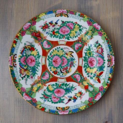 porcelánový talíř ručně malovaný