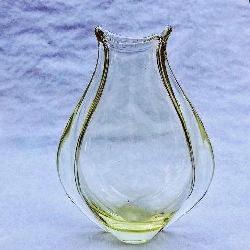 Miloslav Klinger - váza - citrínové sklo